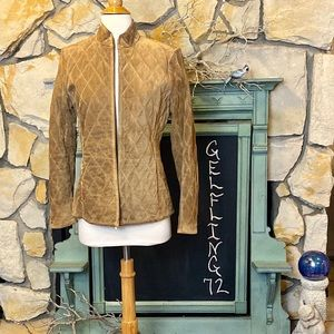 Ann Taylor Quilted Suede Jacket